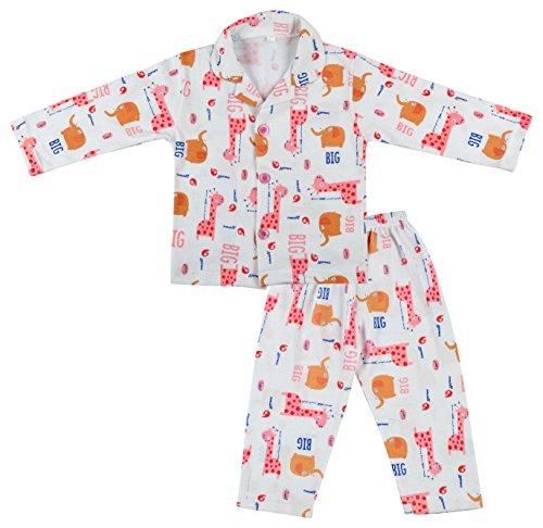Kuchipoo Unisex Baby Night Suit (KUC-NST-114-3-6 Months, Pink,)