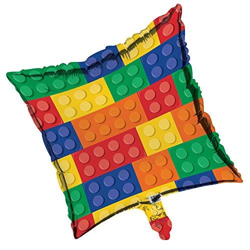 Creative Converting Metallic Ballon, 45,7cm quadratisch (Lego Brick-kuchen)
