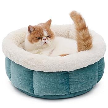 PAWZ Road Pets lit Paniere chat Caverne chaton chatiere chat Form Rond Ultra Doux de laine Pour Chiens chats pour Animaux De Compagnie Lavable En Machine ( Couleur : Vert )