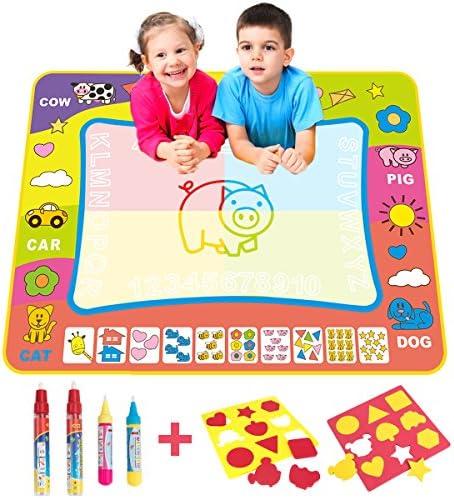 BCMRUN Water Doodle Magic Mats,Painting Doodle Water Mat     4 Water Drawing Pen for Kids B074FXKMR5 4ae7cb