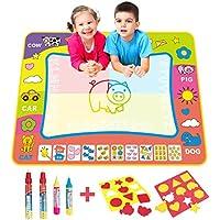 BCMRUN Water Doodle Magic Mats,que pintan la estera del agua del Doodle con la pluma de dibujo del agua 4 para los niños (31.5''*23.6'')