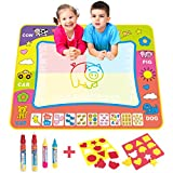 BCMRUN Water Doodle Magic Mats, 31.5*23.6 inches Painting Doodle Water Mat with 4 Water Drawing Pen for Kids