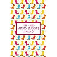 18 Month Weekly Planner 2019-2020: Cheerful Rain Boots will have you smiling rain or shine while you keep your calendar up to date for a full 18 Months! (Wellies Planner)