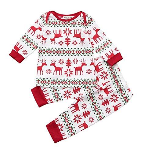 Kinder Baby Jungen Mädchen Langarmshirts Tops + Hosen Kleider Set   ZEZKT-Baby Outfits Kleidung Kindermode Kinderbekleidung (0-4Jahr) (70CM 3Jahr, (Elfen Fröhliche Kostüme)
