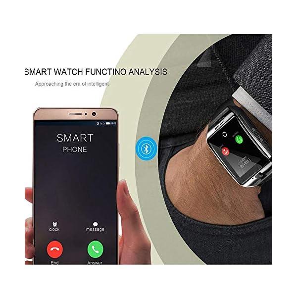 Reloj Inteligente, Smartwatch Bluetooth y Ranura para Tarjeta SIM con Rastreador de Actividad, Podómetro, Cronómetros Reloj de Fitness, Reloj Iinteligente Hombre Mujer niños Android/iOS Phone 2