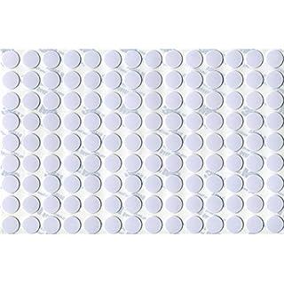 KwikCaps® PVC Alpinweiss Selbstklebende 3M Schrauben-Abdeckungen Abdeckkappen Nägel Cam flach [126 Stk. x 13 mm Durchmesser]