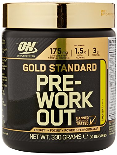 Optimum Nutrition Gold Standard Pre-Workout Supplement, 330 g - Pineapple