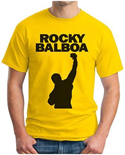 80s Retro Fashion (OM3 - ROCKY CITY - T-Shirt BALBOA BOXER 70s 80s The ITALIEN STALLION USA, M,)