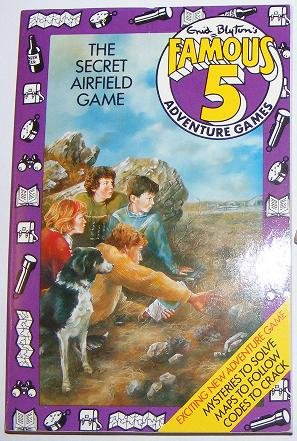The Secret airfield game : adventure games book : based on Enid Blyton's Five go to Billycock Hill