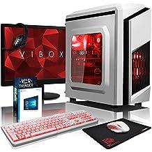 "VIBOX Pyro GS310-220 Gaming PC Ordenador de sobremesa con Cupón de juego, Win 10, 22"" HD Monitor (3,9GHz Intel i3 Dual-Core Procesador, Nvidia GeForce GT 710 Tarjeta Grafica, 8GB DDR4 RAM, 2TB HDD)"