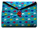 Miss Pretty London Multicoloured Elephants Print Samsung Galaxy Tab A 10'1 Bag for Samsung Galaxy Tab A 10'1