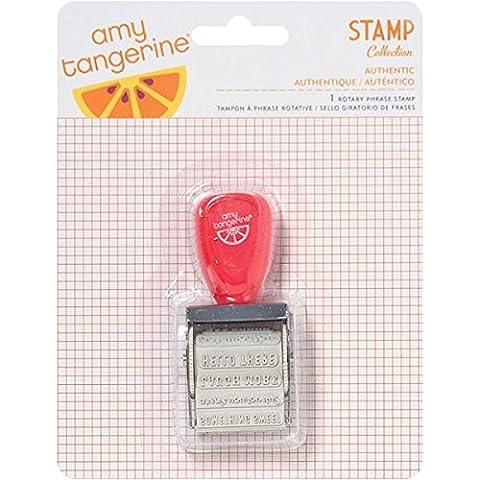 American Crafts Gummi Amy Tangerine Ja Bitte Roller stamp-12Sätze