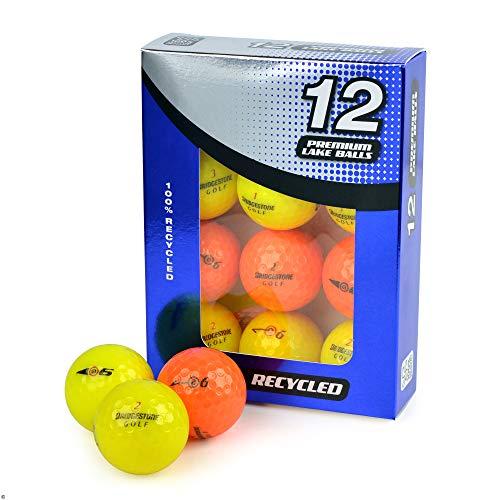 Second Chance Unisex Bridgestone E6 Optik Klasse A Lake Golfbälle, Gelb/Orange, Größe 12 (Orange Golfbälle Bridgestone)