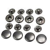 50 PC 13mm Weinlese -Black-Metal-Snap-Druckknöpfe Nähen Buttons