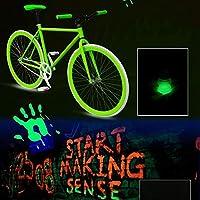Murieo Brillo en Polvo Fluorescente Duración Polvo Luminoso Decoración del arte, 7colores, 10g-70g (Amarillo, 10g)