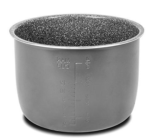 Topf aus Aluminiumguss mit Antihaftbeschichtung aus Keramik, drei Schichten aus Stein, drei ökologische Beschichtungen. Geeignet für programmierbare 6 Liter Töpfe des Models GM. Excelsior Topf, GM-Models. grau