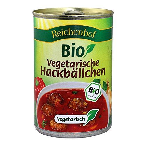 Reichenhof Bio Vegetarische Hackbällchen in Tomatensauce - Fertiggericht, 6er Pack (6 x 400 g)