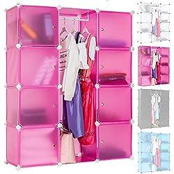 TecTake Estantería Armario Organizador Aparador por Módulos para Oficina Habitación infantil Salón Baño - disponible en diferentes colores - (rose | no. 400921)