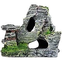 Lorsoul Artificial rocalla Peces de Acuario Tanque Colina Paisaje de la decoración Piedra de la Resina del Tanque de Pescados del Ornamento del Acuario Juguete