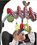 JYSPORT Baby Crib Toy - Wrap Around Activity Spiral Stroller Mobile Car Seat Toys - Bed Hanging New Infant plush Toys - with 0-36 Month Baby (Cute Bird)