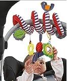 JYSPORT Babyspielzeug–Aktivitäten-Spirale für Kinderwagen und Babysitze, Hängespielzeug – von 0-36 Monaten, Design: niedlicher Vogel
