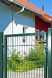 Koll Living Gartentor für Stabmattenzäune, grün, BxH:1000x1250mm inkl. Pfosten - mit Befestigungsmaterial & Ersatzschlüsseln - Top Qualität zum Bestpreis!