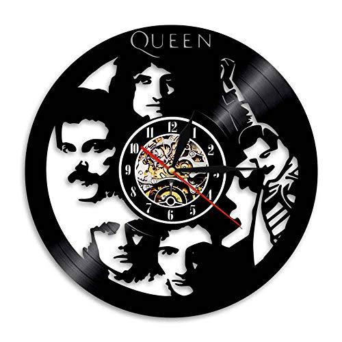 YUN Clock@ Reloj de Pared de Vinilo Placa Reloj Upcycling 3D Queen Ban