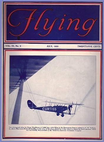 FLYING MAGAZINE c1920 VINTAGE AVIATION Couvercle Art Poster Reproduction sur carton brillant 200 g/m ² Format A3