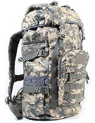 YYY-Nuevo día mochila mediana hombres y mujeres viaje viaje mochila al aire libre equipaje bolsa camuflaje Mochila militar fans pack capacidad 50l , acu camouflage