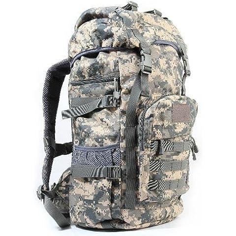 Un nuovo giorno zaino di medie dimensioni uomini e donne viaggi viaggio zaino outdoor bagagli borsa mimetica zaino militare fan pack capacit¨¤ 50l , acu camouflage