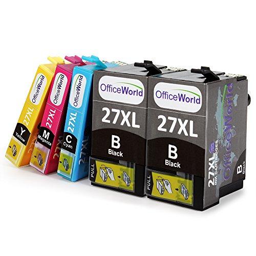 OfficeWorld Ersatz für Epson 27 27XL Druckerpatronen Hohe Kapazität Kompatibel für Epson...