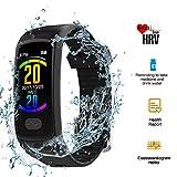 HRV Watch, leegoal Touch Screen Fitness Activity Tracker IP67 Waterproof Smart Watch