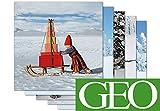5er-Set: Grußkarten 16,5x16,5 cm +++ MIX SET Nr. 1 von modern times +++ 5 schöne GEO WEIHNACHTS-Motive +++