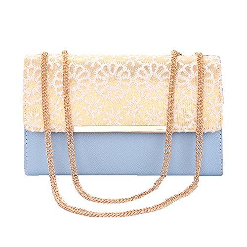 SHUhua - Sacchetto donna light blue