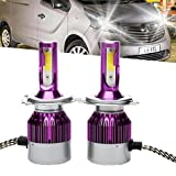 H4 9003 80W 9000LM LED Headlight High/Low Beam Bulbs 2Pcs