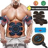 Openuye Electroestimulador Muscular Abdominales, Masajeador Eléctrico Cinturón, EMS Estimulador Muscular para Piernas, Brazo y Abdomen en Casa