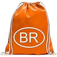 885b205555 Kiwistar Brasile BR Divertente zaino sportivo per il fitness. Gymbag per lo  shopping in cotone