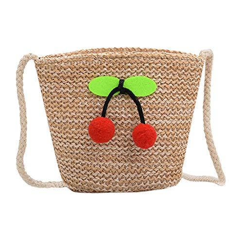 s Mädchen Tasche Umhängetasche Obst Dekoration Weben Umhängetasche Schultertasche Messenger Bagschönes Geschenk zum Geburtstag ()