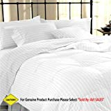 Avi Duvet Cover - King Size - Premium Cotton - Duvet / Quilt / Comforter Cover- 91 X 101 Inches (White)