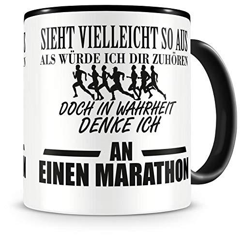 Samunshi® Ich denke an einen Marathon Tasse Kaffeetasse Teetasse Kaffeepott Kaffeebecher Becher