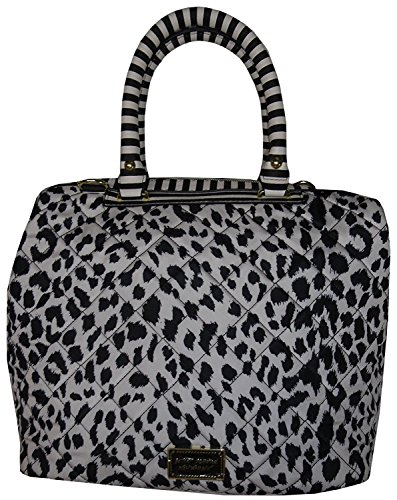 Betsey Johnson Women's Marshmellow Satchel, Black/White Multi -