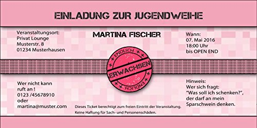 Jugendweihe Einladungskarten Jugendweihekarten Einladung EInladungen 40 Stück