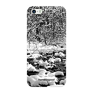 HomeSoGood Beautiful Snowfall Grey 3D Mobile Case For iPhone 5 / 5S (Back Cover)