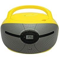 Blaupunkt bb6vl Boombox con radio/CD/MP3Lettore (con Display LCD, USB) Giallo/Grigio