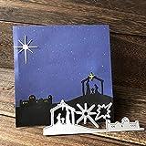 periwinkLuQ Heilige Nacht Religion Metall Stanzschablone DIY Scrapbooking Decor Prägung Schablone – Silber