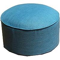 Preisvergleich für JianMeiHome Kissen Stuhlkissen Sitzkissen Tatami Mat Leinen Kissen Tatami Stoff Kissen Portable Verdickung Sit Pier Blue