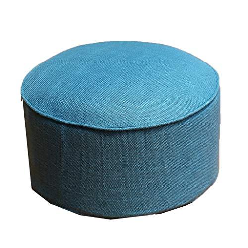 JianMeiHome Kissen Stuhlkissen Sitzkissen Tatami Mat Leinen Kissen Tatami Stoff Kissen Portable Verdickung sit Pier Blue