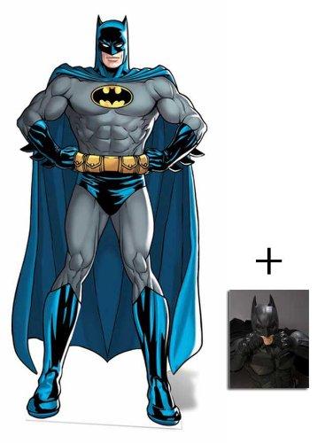 Batman Superheld DC Comics Kleine Pappfiguren / Stehplatzinhaber / Aufsteller - Enthält 8X10 (25X20Cm) starfoto