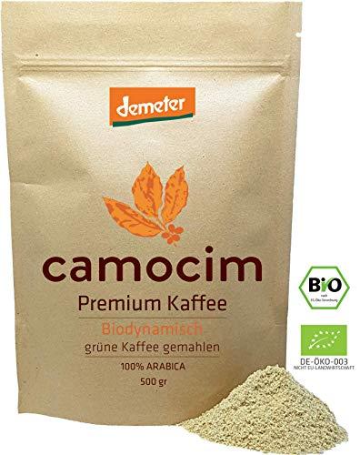 Grüne Kaffee Bio Gemahlen | Single-State Camocim Farm, Brasilien | 100% Arabica Rohkaffee Gemahlen | Demeter Qualität Siegel (500 gr)