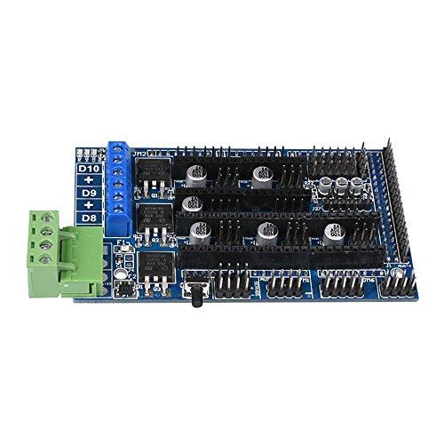 BIQU Carte contrôleur pour imprimante 3D RepRap Prusa Mendel Arduino avec Ramps 1.4 et 1.5